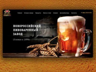 """Промо-сайт """"Новоросс"""""""